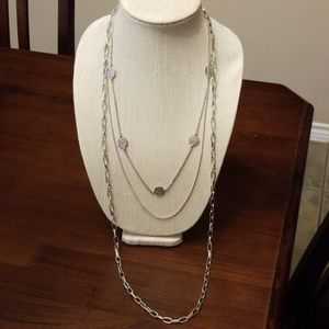 Long Triple Strand Necklace